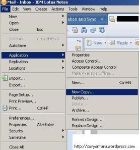 Langkah awal melakukan prosedur backup mail di Lotus Notes