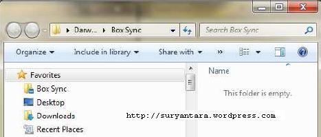 Folder BoxSync pada Komputer