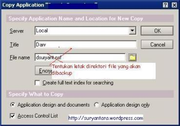 Kegagalan proses backup email di Lotus Notes